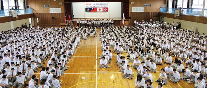 台湾の姉妹校のみなさんが来校されました。